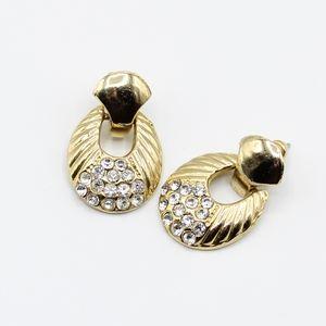Vintage crystal door knocker earrings